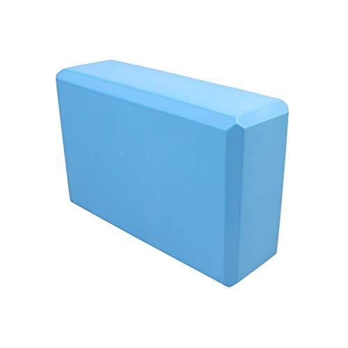 Taosheng Esterillas de yoga de PVC de 4 mm antideslizantes con manta de PVC para gimnasia, deporte, salud, pérdida de peso, almohadilla de ejercicio para mujer (color: bloque de yoga azul)