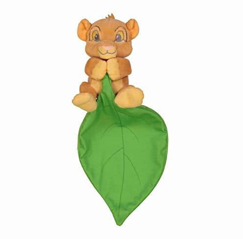 Disney Doudou Simba Roi Lion avec Une Feuille 15cm
