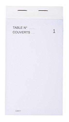 Exacompta 96201E Paquet de 10 Blocs Maitre d'Hôtel format vertical comprenant 50 feuilles dupli 15 x 8 cm