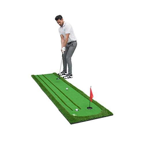 Hh001 Golf-Übungsmatte Golf-Übungs-Netzmatte Home Indoor-Praxis-Slope-Ball-Matte Mini Double Track (Color : Green, Size : 75CM*300CM*0.3CM)