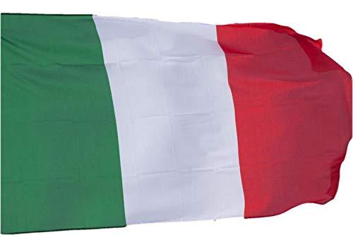 R&F srls Bandiera Italia Tricolore Italiana 90 X 150 cm Tessuto Misura Standard Nazionale Italiani
