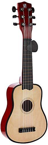 Concerto 701201P Gitarre 55 cm mit Plektrum, Kindergitarre aus Holz, Musikinstrument für Anfänger, Holzgitarre zum Lernen, Anfängergitarre für Kinder ab 3 Jahren, Konzertgitarre zum Üben, naturfarben
