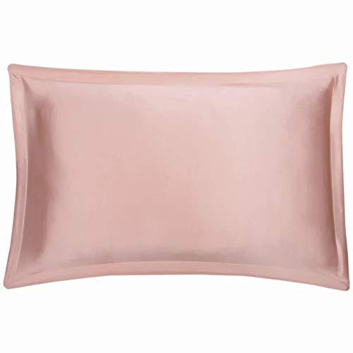 TOOKEN 100% Seda de Mulberry 19 mm Marfil marrón marrón Color púrpura Colores Doble Seda pillowcasas 74 x 48 cm Ordinario 2 Piezas