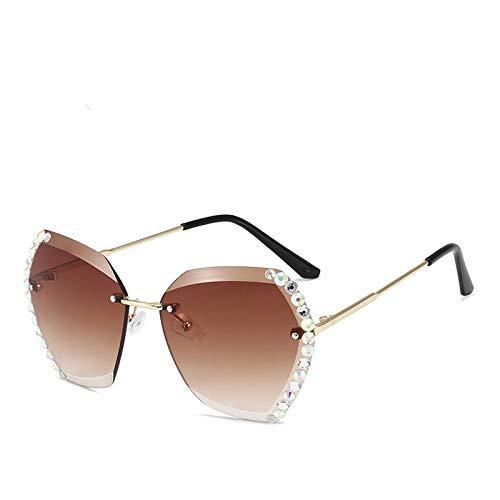 Fasion Sunglasses Occhiali da Sole Nuovi Occhiali da Sole Donna Moda Vintage Occhiali Senza Montatura Occhiali da Sole S