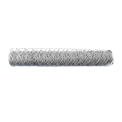elfinrm 2 Inch Hexagonal Poultry Netting Galvanized Chicken Wire Mesh Fence Large Chicken Netting Fit for Crafts and Gardening Rabbits Pets Dog Cat Vegetable Fencing Backyard Raised Flower