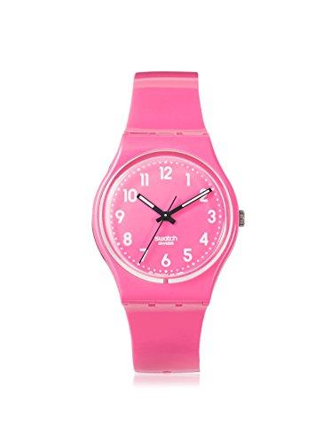 Swatch GP128 - Reloj analógico unisex de cuarzo con correa de plástico rosa