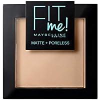 Maybelline New York Fit Me - Polvos Compactos Matificantes y Sin Brillos, Tono 130 Buff Beige
