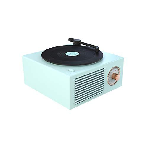 OSALADI Reproductores de Registro de gramófono 3 en 1, Audio inalámbrico portátil Retro Bluetooth Altavoz Subwoofer Mini Altavoz Barra de Sonido