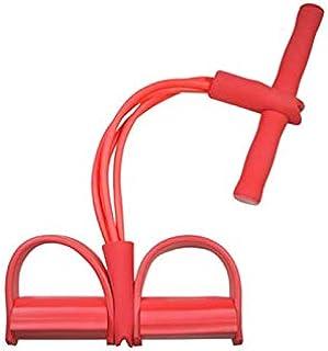 Upgrade 4 Tubes Multifunction Leg Exerciser|Sit-up Bodybuilding Expander|Elastic Pull Rope Training Equipment |Pedal Resis...
