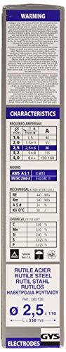 Gys Traditionelle Elektrode aus Rutilstahl, 110 - 2,5
