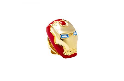 Knighthood Herren Maske Revers Pin Brosche Rot & Gold Brosche/Reversnadel/Lapel Pin/Anzug/Sakko
