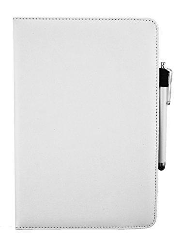 Emartbuy® bq Edison 3 Mini Tablet PC 8 Zoll Universal (7-8 Zoll) Weiß Premium PU Leder 360GradrotierendeStandFolioGeldbörseTascheHülle + Weiß Eingabestift