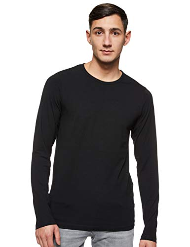 JACK & JONES Herren Langarmshirt 12059220 Basic O-Neck Tee, Gr. 52 (L), Schwarz (BLACK)