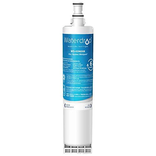 Waterdrop 4396508 Filtro de Agua para Nevera, Compatible con Whirlpool 4396508, 4396510, Maytag, KitchenAid, SBS002, SBS004, SBS200, S20BRS, EDR5RXD1, 481281729632 (1)