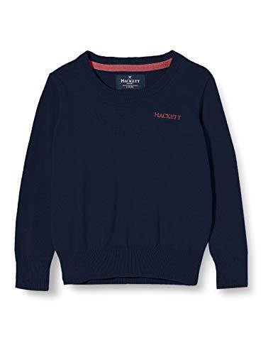 Hackett London Classic Crew B suéter, Azul (595Navy), K07 para Niños
