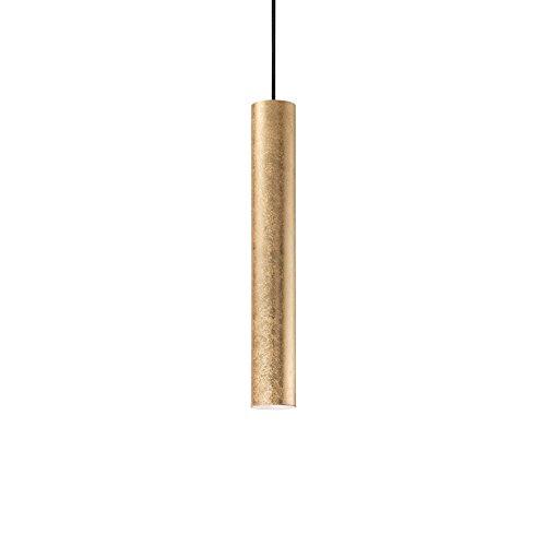 lampadario lampada a sospensione per cucina moderna cilindro metallo oro per isola penisola gu10 led