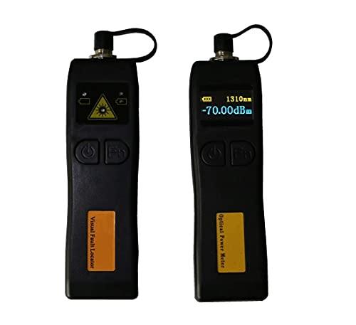 DAXGD Mini-fibra ottica misuratore di potenza -70 + 6dBm e 5 km 1MW Visual Fault Locator Fibra ottica Tester, 2 in 1 FTTH Kit di strumenti in fibra ottica