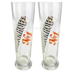 Brinkhoffs No1 Glas Set - 2X Gläser 0,3l geeicht selten Bar Bier Biergläser