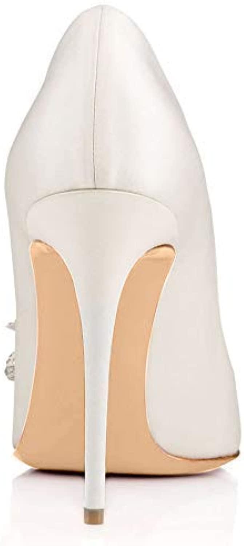 GBX Frauen High Heels, Hochzeitsschuhe, Bow Pointed High Heels Fashion Damenschuhe sind für viele Gelegenheiten geeignet,Weiß,41
