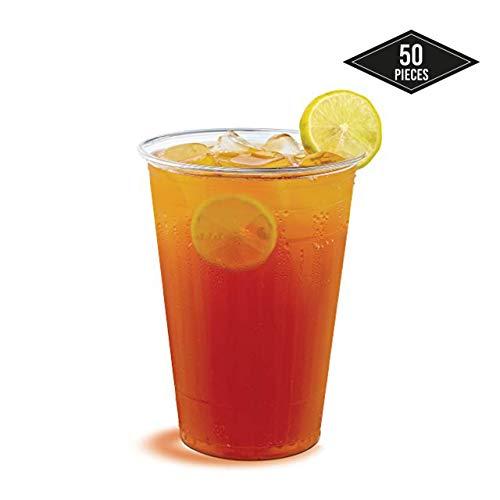 Matana 50 hard plastic wegwerpbeker, partybeker, transparant 0,2 L, 200ml - Stabiele & Herbruikbare - Sterke plastic glazen, drinkbeker, plastic beker voor bier & drankjes | Party's verjaardagen Kerstmis.
