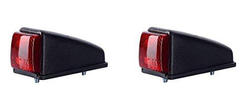 2 x Rot Dachleuchte Begrenzungsleuchte Seitenleuchte 12V 24V mit E-Prüfzeichen Positionsleuchte Auto LKW PKW KFZ Lampe Leuchte Licht Hinten Set Birne