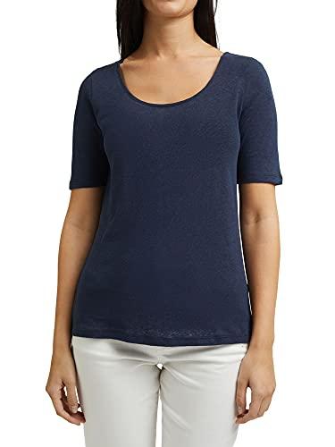 Esprit 041EE1K301 T-Shirt, 400/bleu Marine, XXL Femme