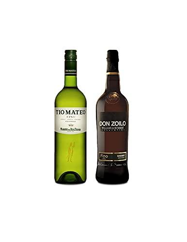 Vino Fino Tío Mateo de 75 cl y Vino Fino Don Zolio de 75 cl - Mezclanza Exclusiva