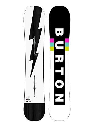 Burton M Custom Flying V Schwarz-Weiß, Herren Snowboard, Größe 158 cm Wide - Farbe Black - White - Flash