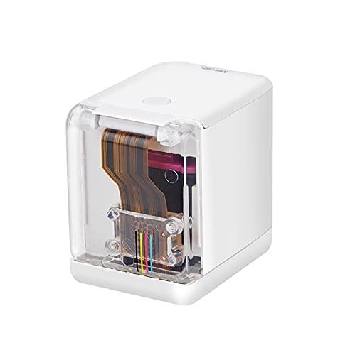 LEADALL Impresora A Color Portátil, Mini Impresora Inalámbrica WiFi para Todos Los Materiales Impresora A Color Móvil con Cartucho De Tinta Desmontable Suitale para Android iOS Smartphone