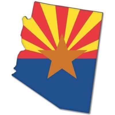 Autocollant arizona state flag map bumper stickers mm 127 x 76 mm