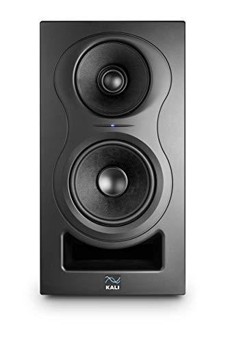 Kali Audio IN-5 Monitor de campo cercano, altavoz de estudio (sistema de 3 vías con medios coaxiales/tweeter, con sofisticado sistema de reflejo de bajos, baja distorsión y sonido transparente), negro