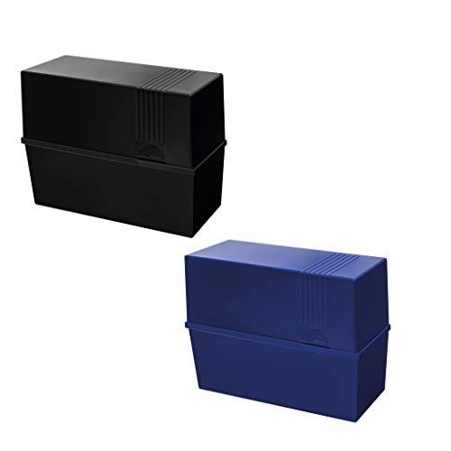 herlitz 50028191 - Scatola per schedari, formato A5, vuota, colori assortiti, non è possibile scegliere il colore, 1 pezzo