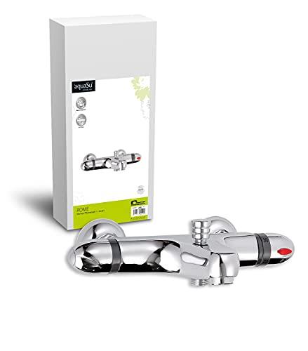 'aquaSu® Thermostat Batterie Rome für Wanne   Wannenarmatur   chrom