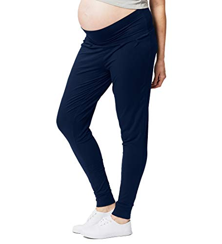 Cake Maternity Damen Womens High Band Lounge Pant, Navy, X-Large Hose, Marine