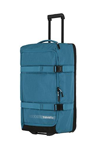 travelite Trolley Reisetasche Größe L, Gepäck Serie KICK OFF: Praktische Reisetasche mit Rollen für Urlaub und Sport, 006910-22, 68 cm, 65 Liter, petrol