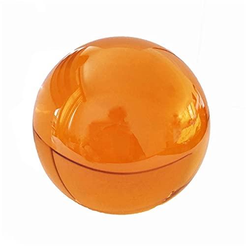 JIUXIAO Bola de Cristal ámbar de 30Mm-100Mm, Esfera de obsidiana RARA asiática, Bola de Cristal, Piedra curativa, decoración Feng Shui
