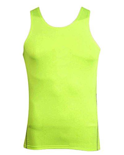 Herren Ärmelloses Kompressionsshirt Cool Compression Base Layer Outdoor Fitness T-Shirt Tank Top Flgrün M