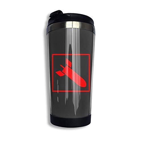 Quake Arena - Raketenwerfer Quake 3 Arena - Railgun Reisebecher Kaffeetasse Edelstahl Vakuumisolierter Becher 13,5 Unzen