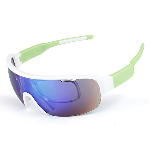 Z&HA Unisex gepolariseerde sport zonnebril met 5 sets verwisselbare lenzen motorfiets of fietskleding, bril voor mannen vrouwen rijden nacht visie, vissen, Ski, winddicht en zanddichte bril