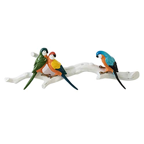 Decoración de pared Mural De Aves En La Pared Escultura Roja Pared Decorativa Modelo Animal Simulado Loro Pájaro Escultura Decorativa Modelo Loro