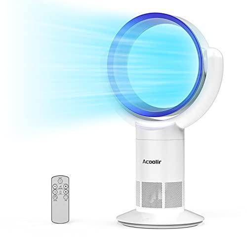 Ventilator Leise, Turmventilator mit Fernbedienung, Standventilator Rotorlos mit 9 Stunden Timer, 90°Oszillation, 10 Geschwindigkeitsstufne für Wohnzimmer, Schlafzimmer, Büro
