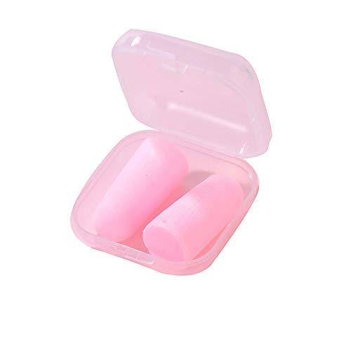 Paquete de 5 pares de tapones para los oídos para dormir ronquidos lectura, viajes, conciertos, deportes, carreras y estudios, color rosa