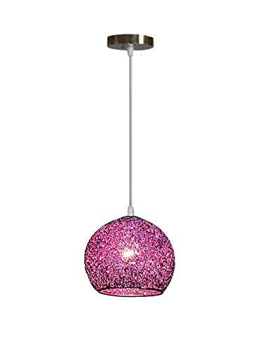 Hängelampe Bunte Kugeln Metall Pendellampe - Kronleuchter Kupfer Moderne Lampenschirm Bunt Luxus Pendelleuchte Schlafzimmer Kinderzimmer Wohnzimmer Esszimmer Hängeleuchte (Lila)