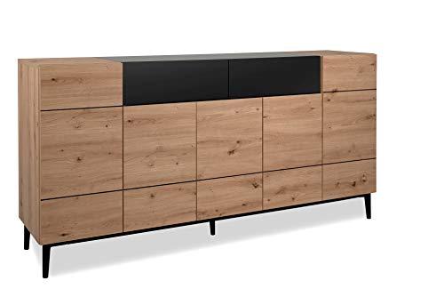 Sideboard Kommode - ADA - Konsole Wohnzimmerschrank Anrichte Artisan Eiche Nb.