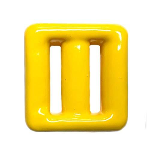 Pastilla Plomo plastificado cinturón Buceo. 1 Kg Amarillo