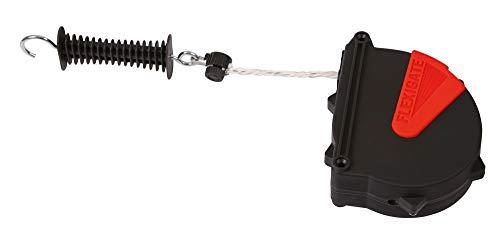 AKO Flexi Gate corda, 7,5m–Viene automaticamente aufgerollt beim aprire–per cavalli aggancia adatto