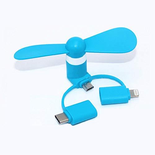3 IN 1 Reizen Draagbare Mobiele Telefoon Mini Ventilator Koeling Koeler Voor Micro USB C Voor iPhone 5 6 6S 7 Plus 8 X voor Android Type-c