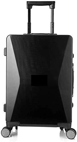 Maleta expandible de dos ruedas Teléfono móvil Carga de carga de negocios de alta gama de negocios Maleta de embarque inteligente,Black