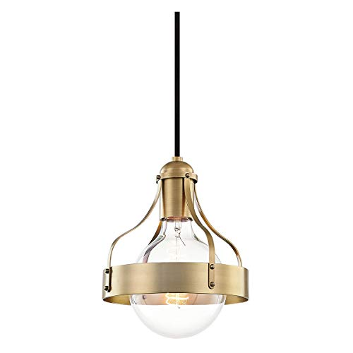 Mitzi H271701-AGB Violet Pendant, 1-Light 60 Watts, Aged Brass