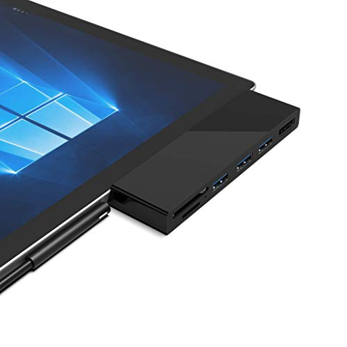 Rytaki Microsoft Surface Pro 4/5 / 6 USB 3.0 Hub Docking Station with 4K HDMI, 3 x USB 3.0 Ports, SD/Micro SD Card Reader for the 4th/ 5th/ 6th Generation Surface Pro 4/5/6 microsoft surface dock